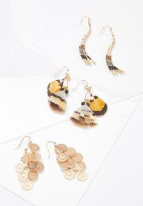 Mixed Statement Earring Set