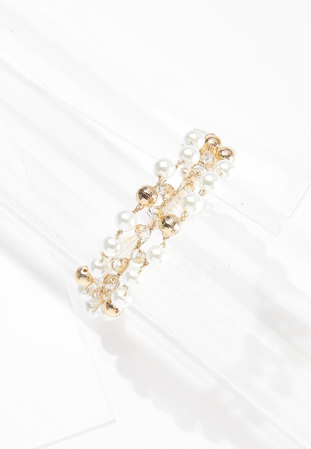 Pearly Bead Pull-String Bracelet
