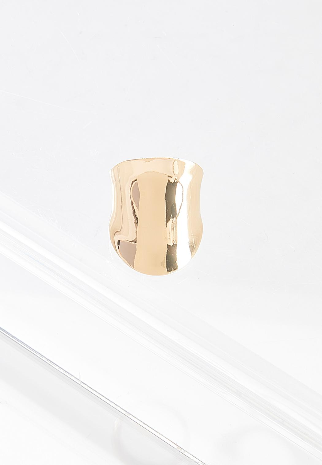 Oversized Hammered Metal Ring