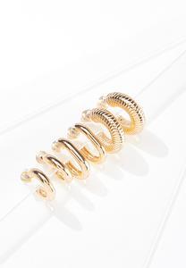 Mini Gold Hoop Earring Set