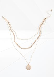 Delicate Chain Coin Necklace
