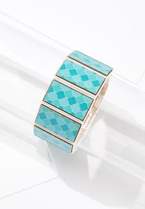 Moroccan Wood Stretch Bracelet