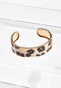Leopard Fur Cuff Bracelet