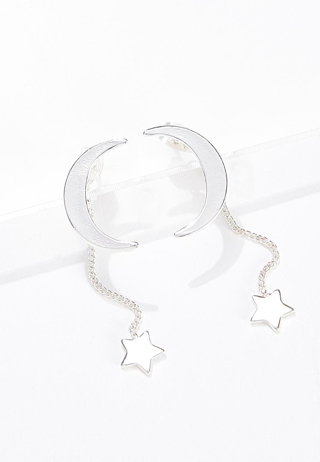 Moon Star Front Back Earrings