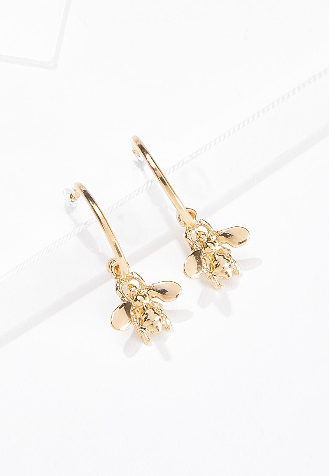 Bee Hoop Earrings