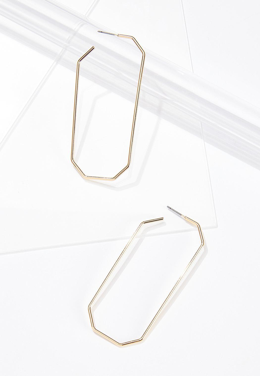 Octagon Hoop Earrings