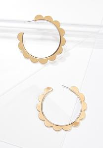 Gold Scalloped Hoop Earrings