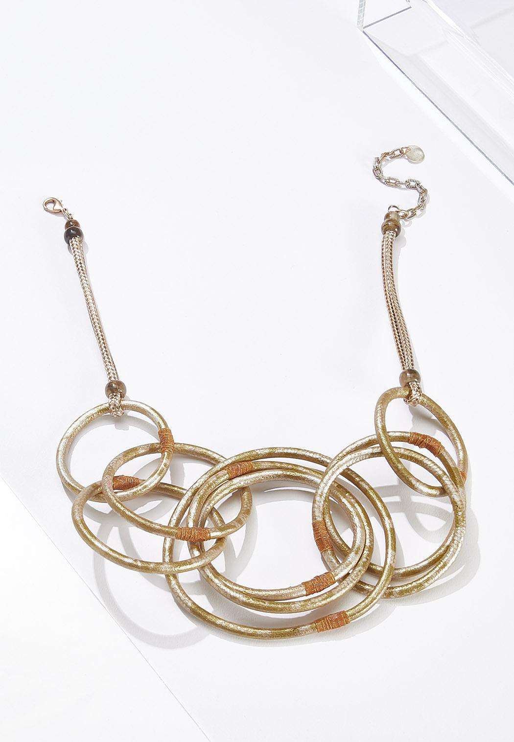 Gold Link Circle Necklace