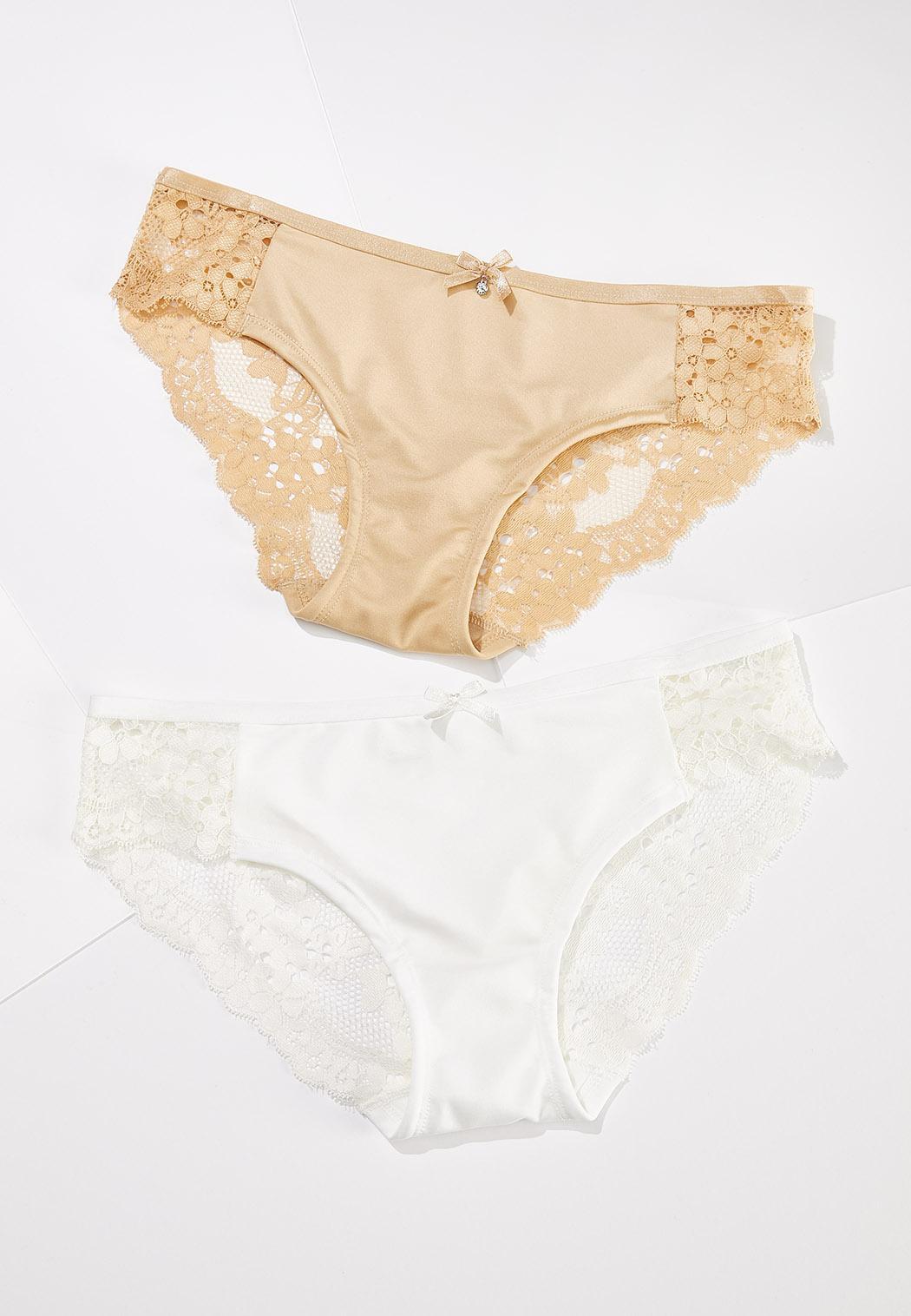 Plus Size Neutral Panty Set