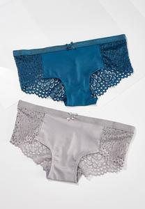 Plus Size Touch Of Teal Panty Set