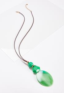 Large Oval Pendant Necklace
