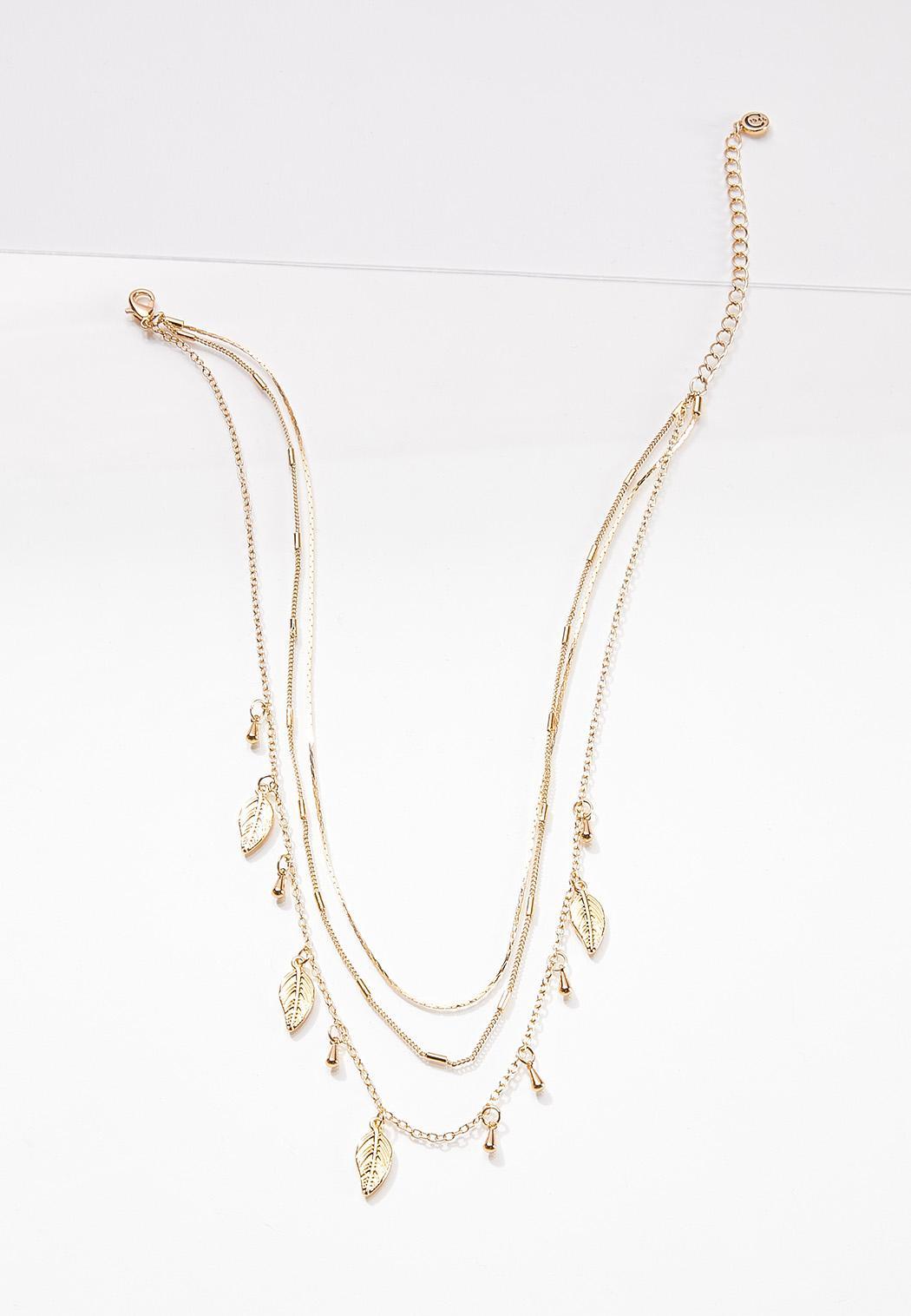 Layered Shaky Leaf Necklace