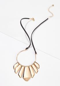 Metal Cord Statement Necklace