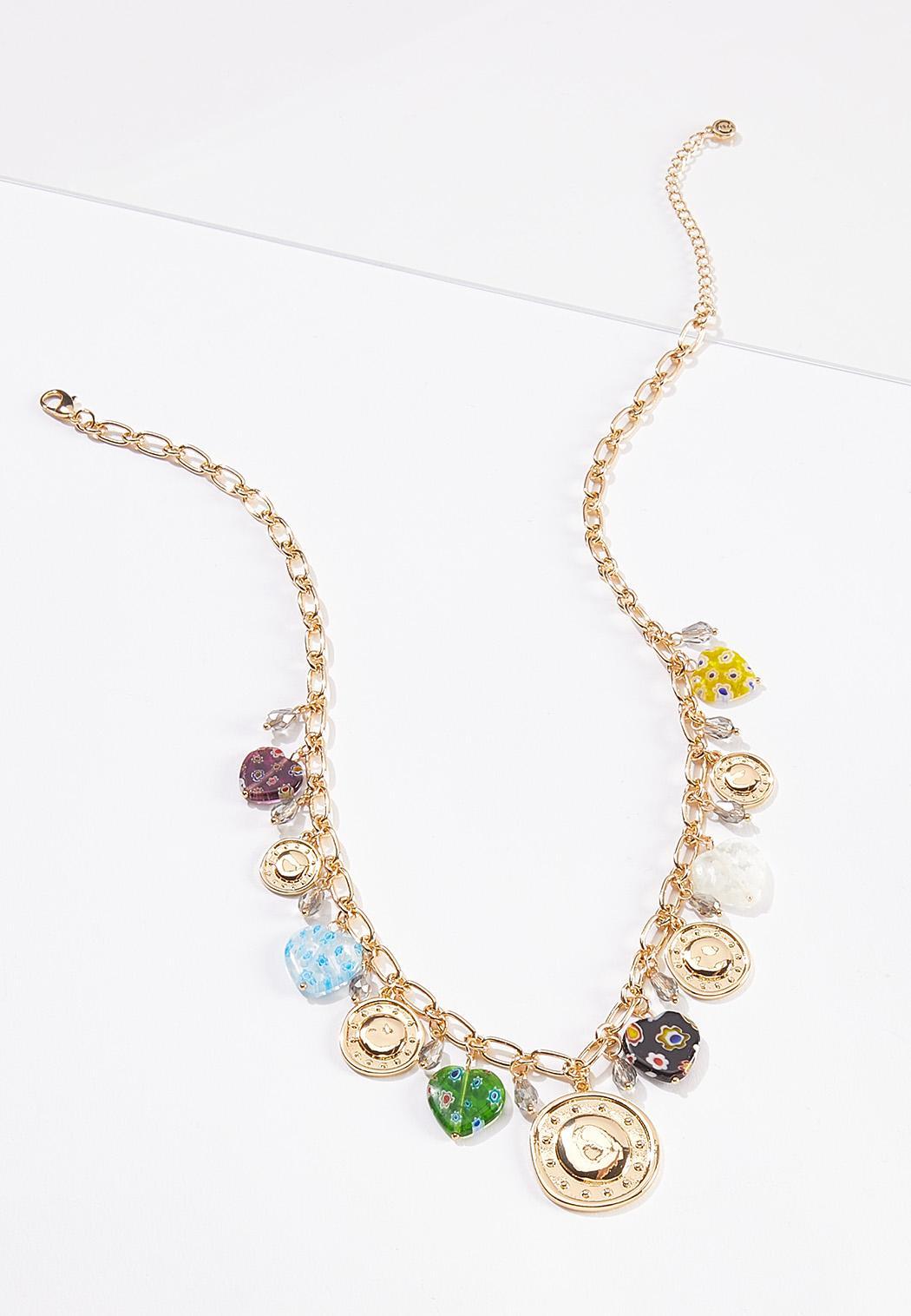 Mixed Shaky Charm Necklace