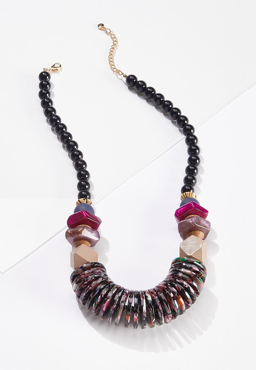 Mixed Lucite Statement Necklace