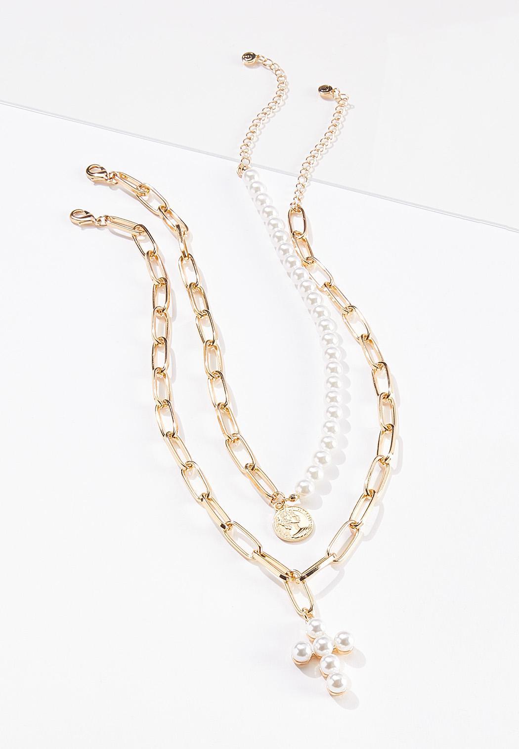 Mixed Pendant Link Necklace Set