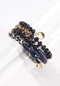 Mixed Bead Coil Bracelet