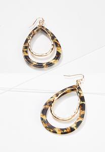 Leopard Tear Shaped Earrings