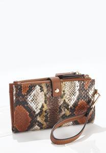 Multi Snakeskin Wristlet Wallet