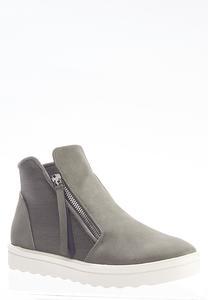 Gray High-Top Sneakers