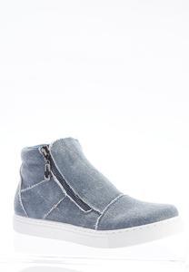 Denim High-Top Sneakers