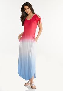 Ombre Americana Maxi Dress