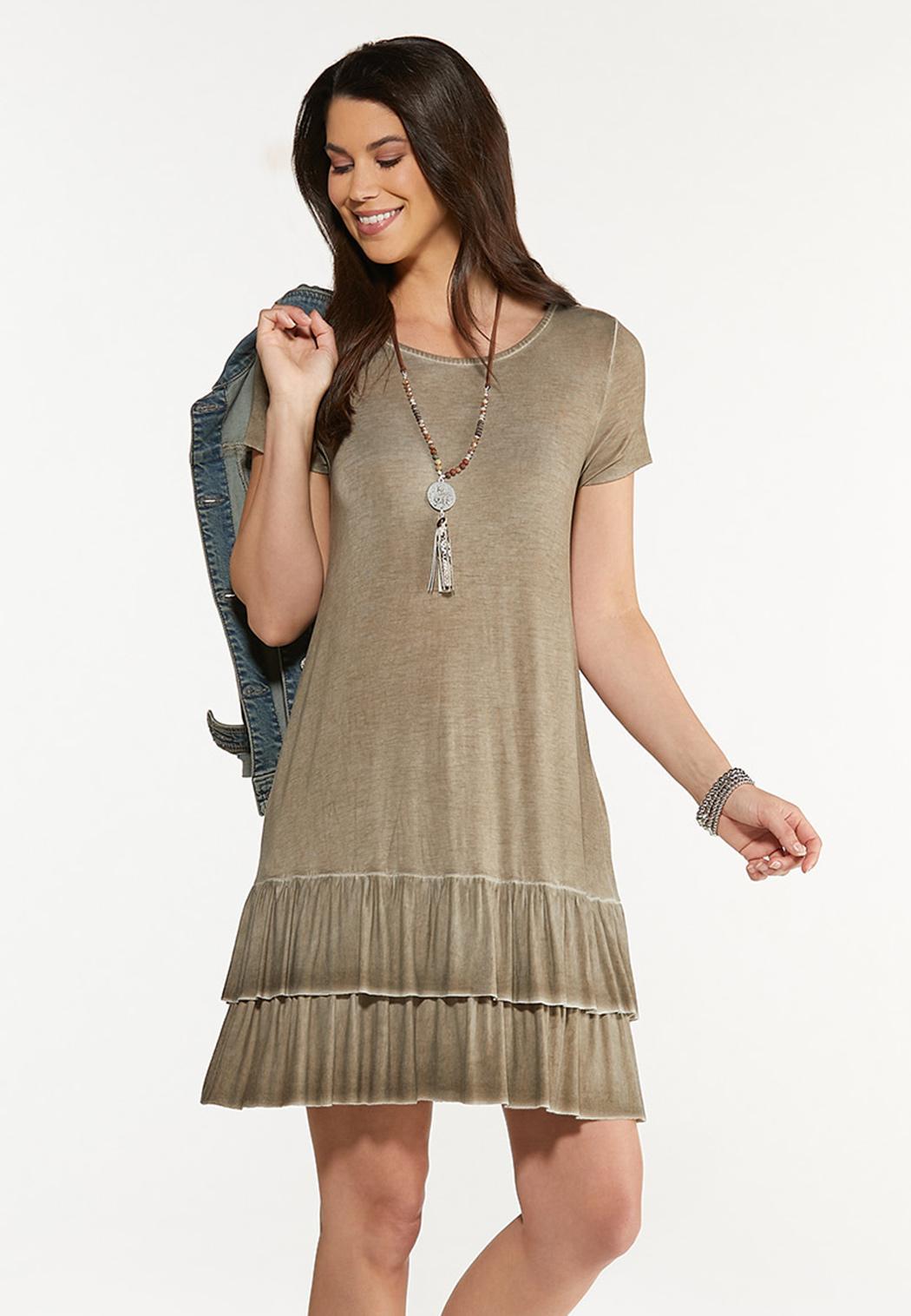 Summer Sand Flounced Dress