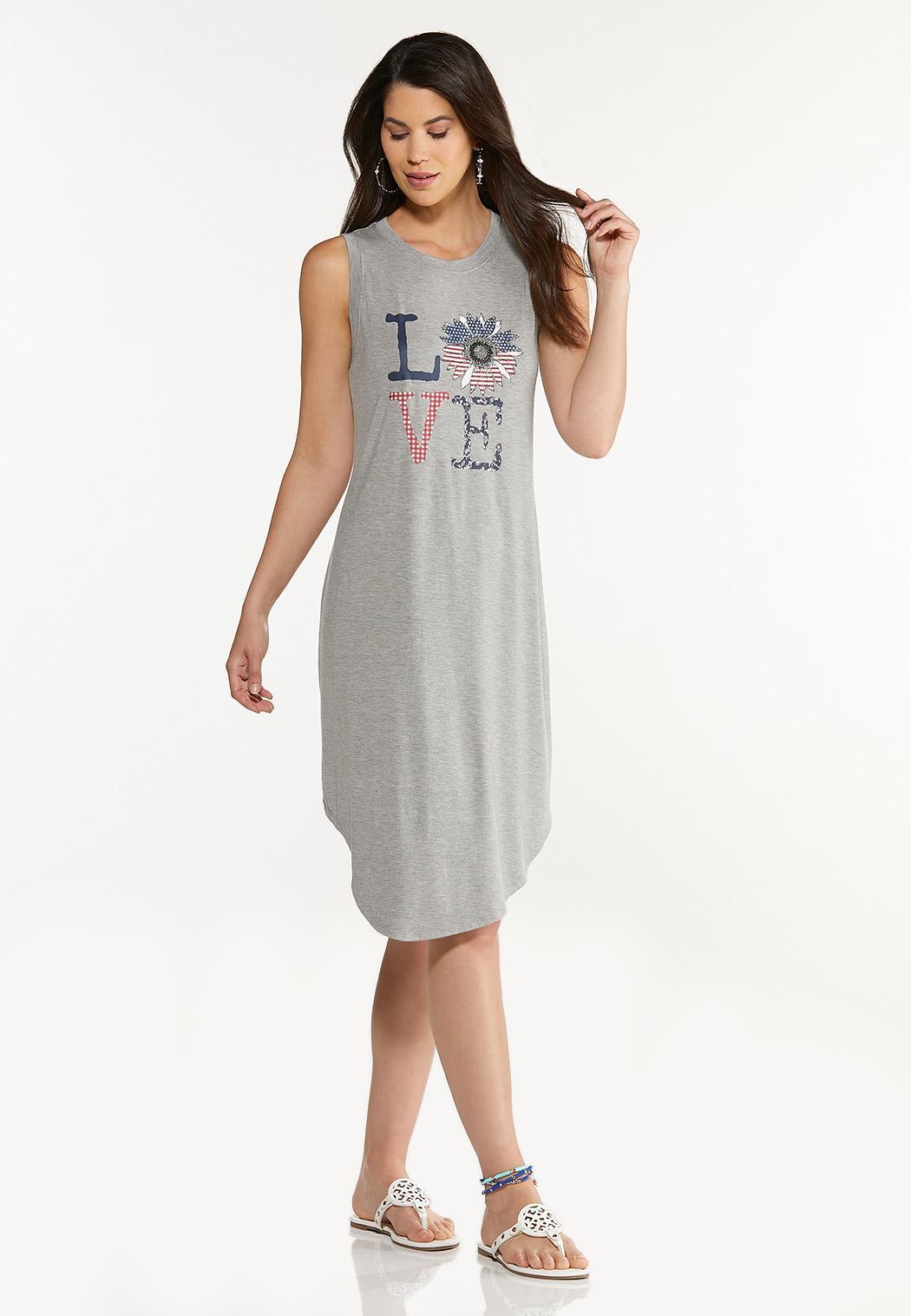 Plus Size Love Tank Dress