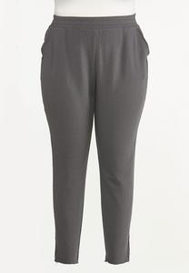 Plus Size Contrasting French Terry Pants