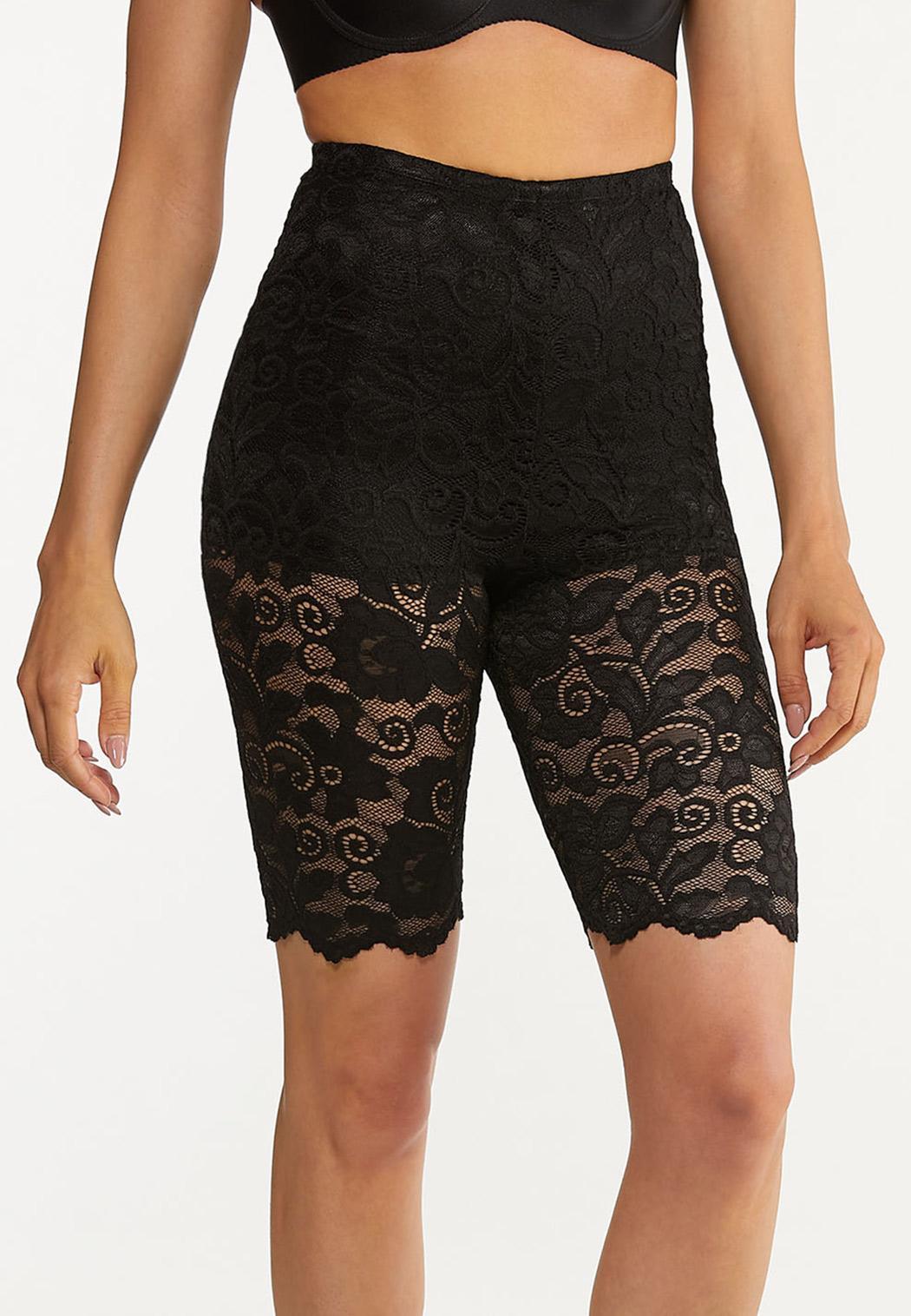 Plus Size Lace Shapewear Shorts