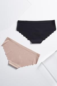 Nude Scalloped Seamless Panty