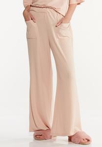 Blushing Ribbed Lounge Pants
