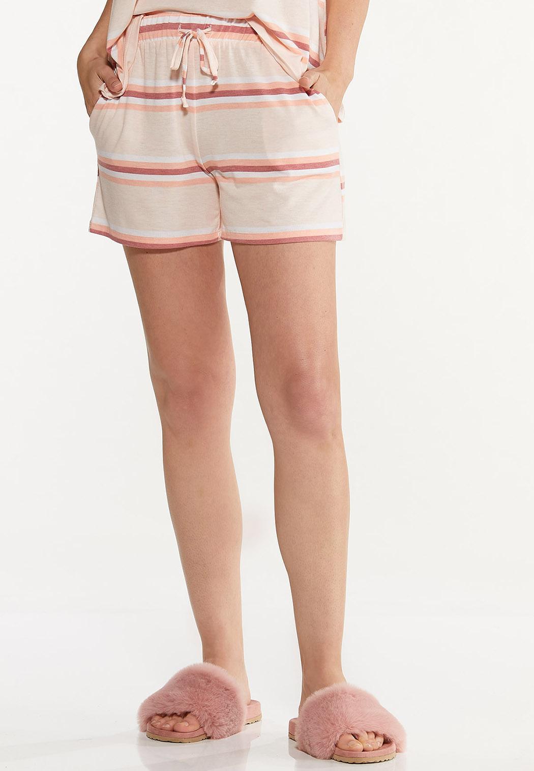 Striped Hacci Shorts