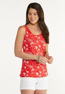 Flame Floral Tank