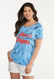 Plus Size Stars And Stripes Tee