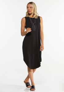 Solid Black Tank Dress