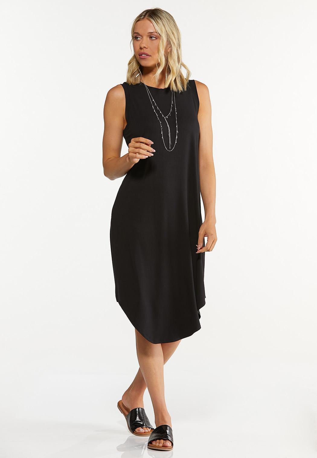 Plus Size Black Tank Dress