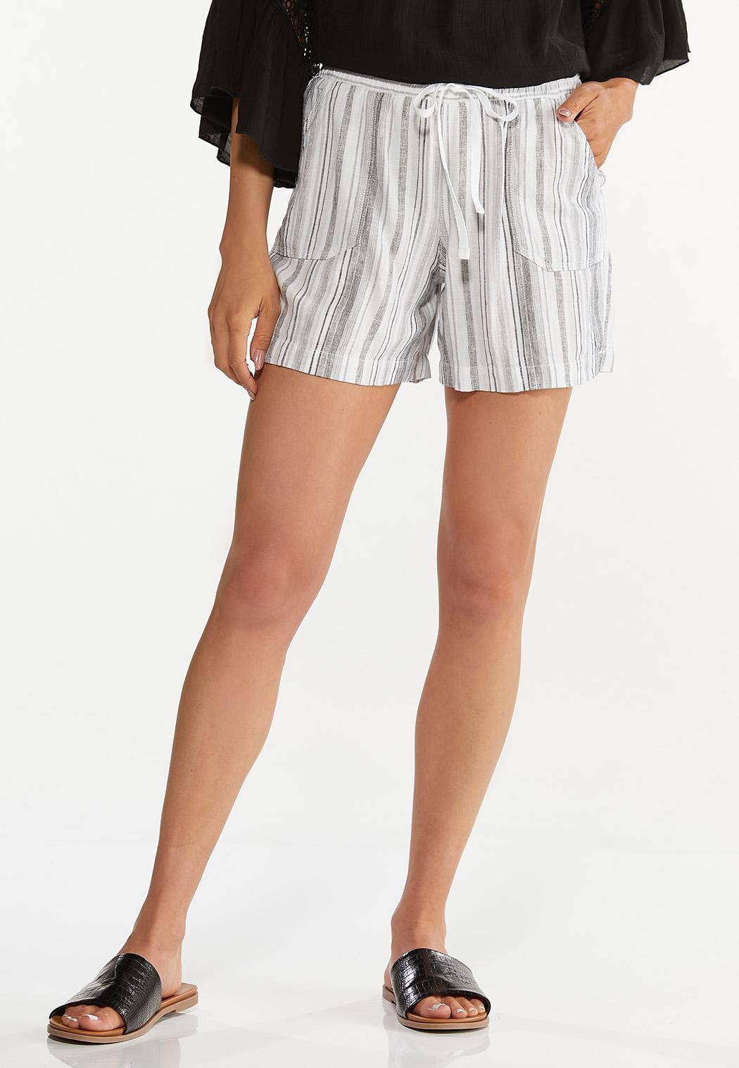 Pepper Stripe Linen Shorts