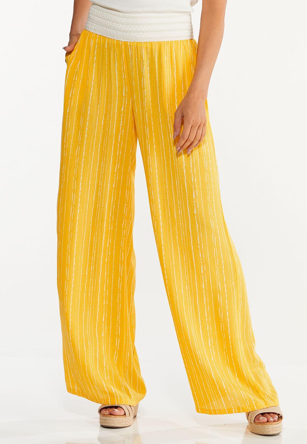 Gold Crochet Waist Pants