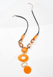 Mixed Resin Statement Necklace