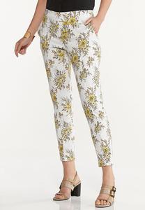 Sketch Floral Bengaline Pants