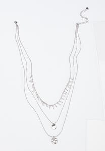 Layered Hammered Circle Necklace
