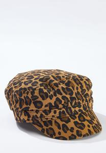 Leopard Cabbie Hat