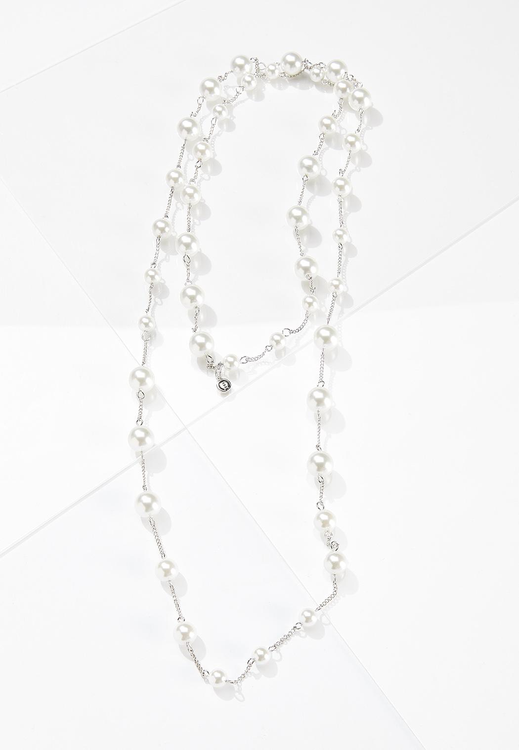 Layered Multi Pearl Necklace
