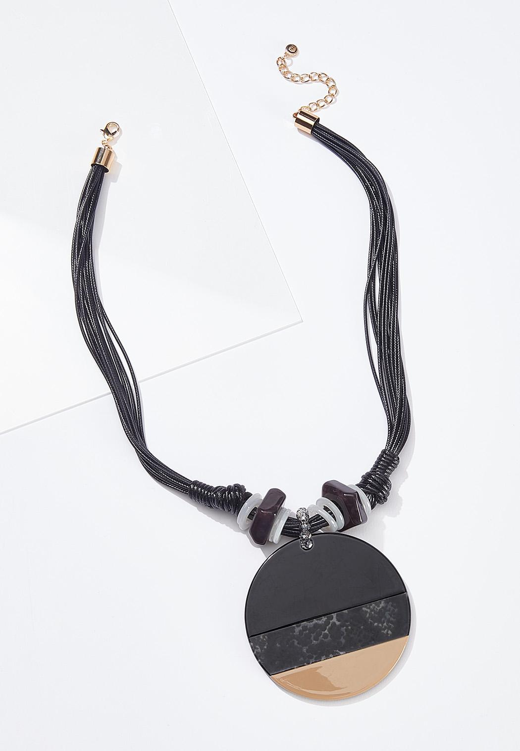Large Circle Pendant Necklace