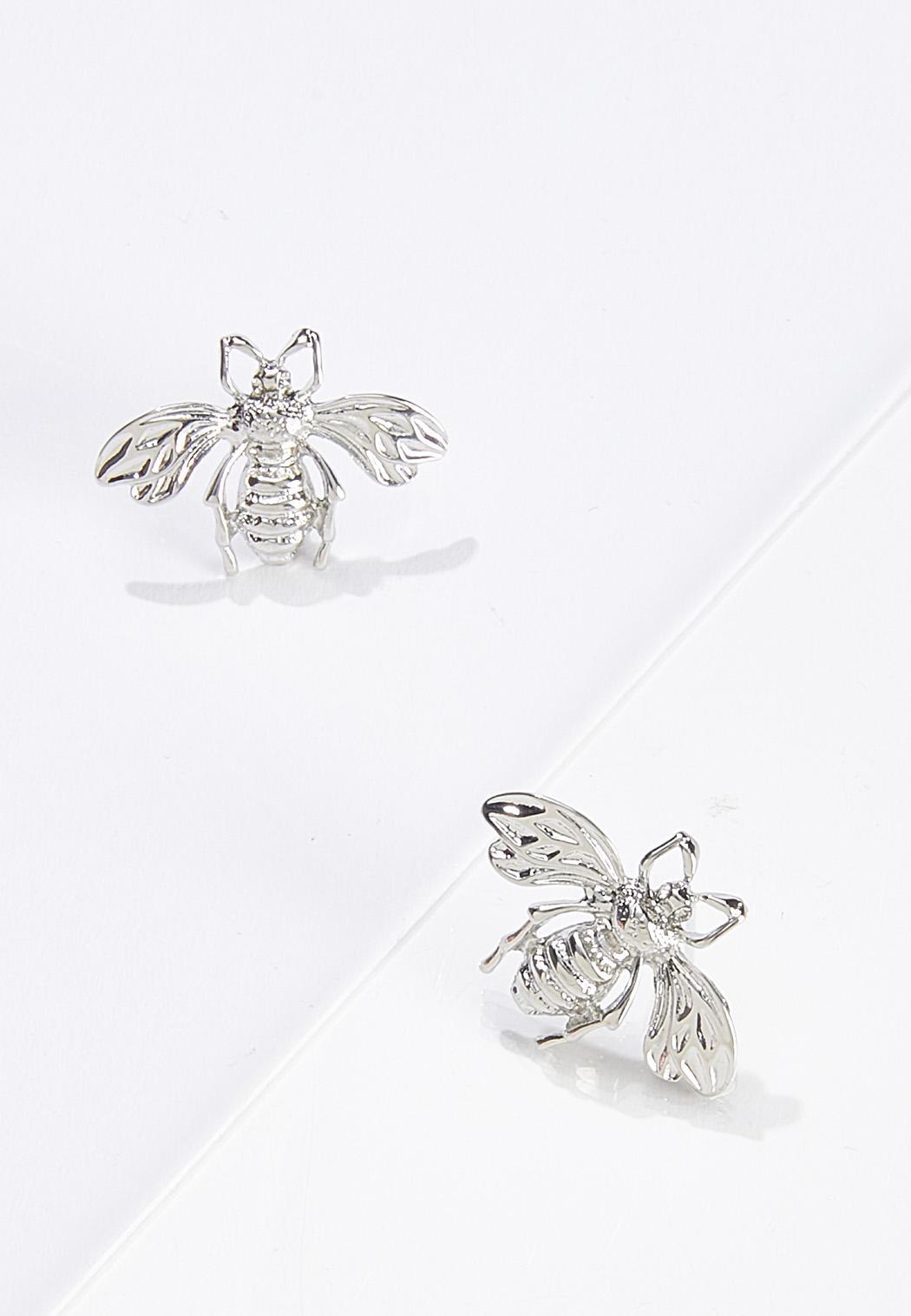 Bee Button Earrings