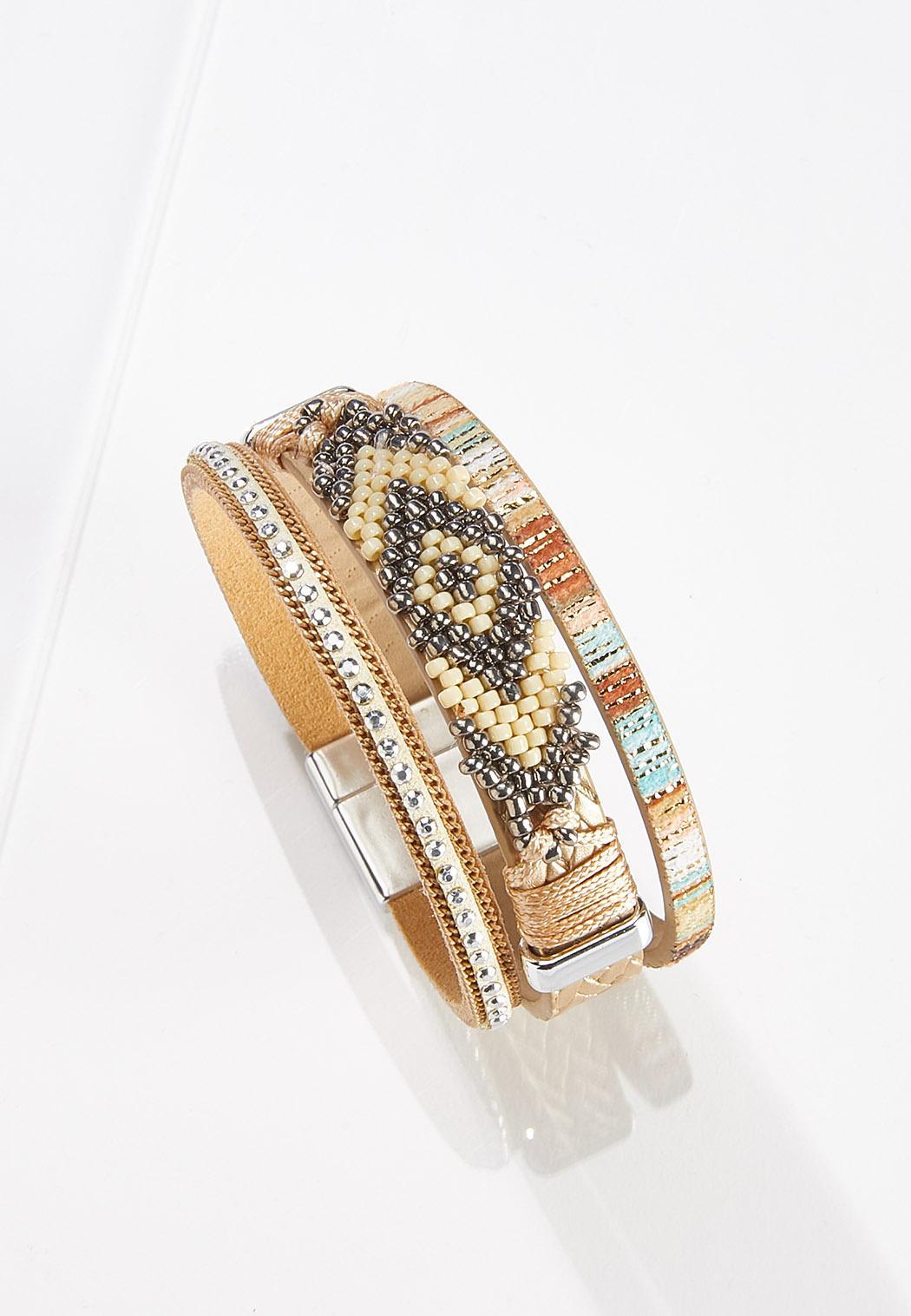 Aztec Bead Magnetic Bracelet