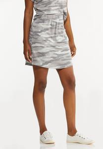 Plus Size Camo Skirt