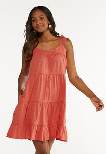 Tie Sleeve Babydoll Dress