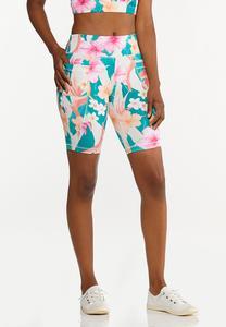 Tropical Biker Shorts